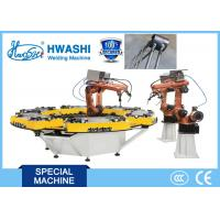 Buy cheap HWASHI Six Axis MIG Industrial Welding Robots with Rotate Welding Table from wholesalers