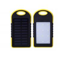 Buy cheap PVC Fun Electronic Gifts Waterproof  6000mah Solar Power Bank With LED Lighting product