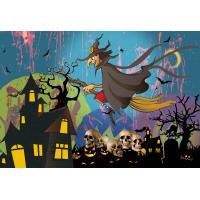 Buy cheap 0.6mm PET Happy Halloween Poster Lenticular Flip 30 * 40cm For Party Decoration product
