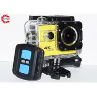 China Yellow Wireless 4K Remote Control Action Camera FHD 1080p 60fps Waterproof on sale