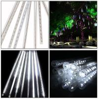 Buy cheap 5W 30CM 8 Tubes 144LEDs Rainproof RGB LED String Lights Indoor Christmas decoration with US EU plug product