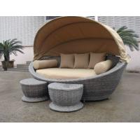 Buy cheap Luxury Comfortable Roofed Cane Daybed , Wicker Garden Oval Daybed product