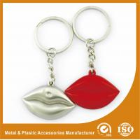 Buy cheap Silver Plated Custom Shaped Keychain Personalised Lips Keychain product