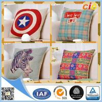 Buy cheap Customized Washable Printed Canvas Sofa Cushion Pillow / Car Seat Cushion Covers from wholesalers