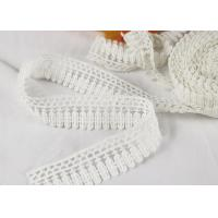 Buy cheap Milk Silk Polyester Embroidered Lace Trim For Dress / Garments Indian Style product