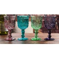 Buy cheap Height 16.5cm Crystal Solid Coloured Wine Glasses / Purple Champagne Glass Cups product
