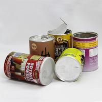 China Aluminum Foil Liners Paper Cylinder Containers Peel Foil Lid Nuts Packaging on sale