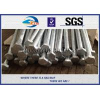 Buy cheap GB Standard 8.8 Grade Railway HEX Bolt  24x3x1100mm with nuts and washers product