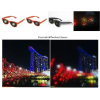 Buy cheap Black Frame Diffraction 3D Glasses For Fireworks , Rainbow Viewing Glasses with adult and kids size product