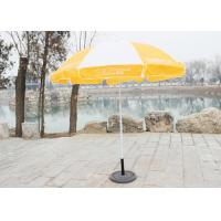 Stable Big Beach Umbrella , Branded Promotional Umbrellas With 210D Oxford Fabric