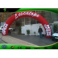Buy cheap Red Color Advertising Inflatable Arches / Finish Line Entrance Arch With Logo Printing product