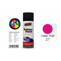 Buy cheap Car Wheel Removable Rubber Spray Paint With Head Light Rose Red Color product