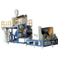 Spiral pipe extrusion line