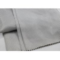 Buy cheap Soft Sleeve Lining Fabric Grey Pinstripe Style 100 Polyester Material from wholesalers