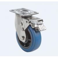 Buy cheap SUS304 Stainless Steel PU Caster Wheel Heavy Duty Dual Ball Heat Treated Raceways product