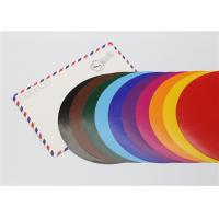 Buy cheap Lick - To - Stick Colored Paper Circles , Glossy Construction Paper Circles product