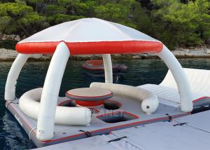 Buy cheap Water Play Equipment Inflatable Floating Platforms Inflatable Water Floating Island With Tent For Leisure Time product