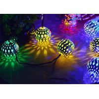 Buy cheap Morocco Ball Solar LED String Lights , Colorful Solar Party String Lights product