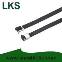 Buy cheap 16×500mm L Type PVC coated stainless steel cable tie-Wing Lock type product