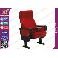 Buy cheap Stain Proof Full Upholstered Red Velvet Fabric Chairs For Stadium / Lecture Room product