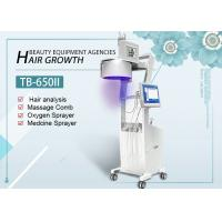 Quality LED Lights 650nm 808nm Diode Laser Hair Growth Machine With Hair Skin Analyzer for sale