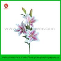 "Buy cheap 39.5"" Hand Made Silk Flower of Tiger Lily 3 Flowers and 2 Buds product"