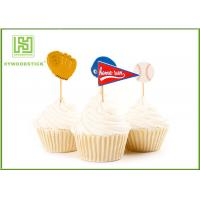Buy cheap Biodegradable Childrens Cake Toppers Creative Wooden Bamboo Food Skewers product