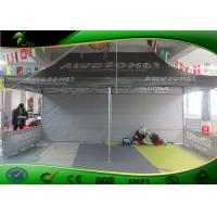 Buy cheap Portable Black Folding Canopy Tent / Oxford Cloth Large Event Tent With Side Panels product