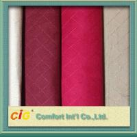 Buy cheap 100% Polyester Embroidery Faux Suede Fabric , Sofa Upholstery Fabric product