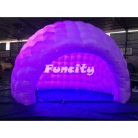 China Outdoor Inflatable Air Tent / Dome Tent With Led Light 3 - 5 Years Lifespan on sale
