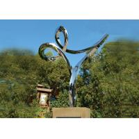 Quality Professional Stainless Steel Outdoor Sculpture , Stainless Steel Art Sculptures for sale