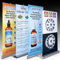 Buy cheap Retractable Banner Stands , advertising aluminum roll up banner stand product