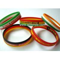Buy cheap Custom silk print debossed embossed rubber silicone bracelet with logo print engrave ink filled silicone wristband product