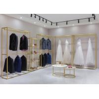 Buy cheap Wedding Shop Clothes Display Stand For Retial Shop With Shelf from wholesalers
