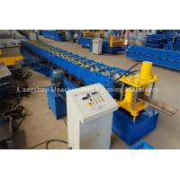 Buy cheap Steel Security Door Frame Roll Forming Machine with 14 Steps , 85 mm Effective Width product