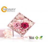 Buy cheap Flower Gift Box , Pink Rose Waterproof Square flower paper box for Saint Valentine's Day product