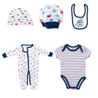 Buy cheap Printed Romper Matching Hat Baby Clothes Set Toddler Boys Coming Home Outfit from wholesalers