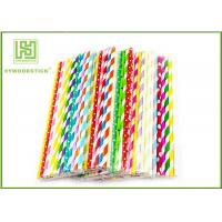 Buy cheap Personalized Pink Party Paper Straws For Holidays 197MM Logo Printable product