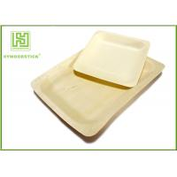 Buy cheap 10'' Thanksgiving Holiday Disposable Wooden Plates Natural Barbecue / Sandwich Tray For Picnic product