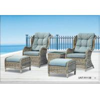 Buy cheap Doube Person Outdoor Rattan Chairs Sofa Furniture With Small Seat For Feet product