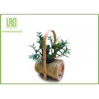 Buy cheap Attractive Indoor Bamboo Flower Pots For Various Succulents Plants product