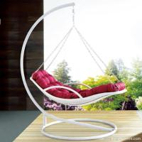 Buy cheap Premium Indoor Outdoor Furniture PE Rattan White Day Bed Style Swing Hanging Chair product