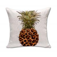 Buy cheap Cotton Line Decorative Square Throw Pillow Covers Set Cushion Case for Sofa Bedroom Car Pineapple Pillowcases 18 x 18 In product
