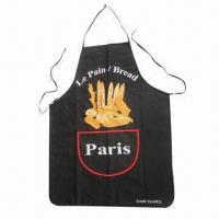 Buy cheap Kitchen Cooking Apron, Made of Canvas, Two Belts and Pockets, Various Sizes/Patterns are Available product