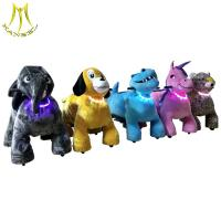 China Hansel best quality motorized animals rides,toy animal rides,battery plush animal rides for sell on sale