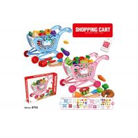 """Buy cheap W / Fruit Age 3 Pink 33Pcs Childrens Toy Kitchen Sets 17 """" Pretend Play Cashier Shopping Cart product"""