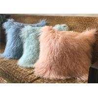 Buy cheap 18 Inches Long Sheep Fur Decorative Pillows , Mongolian Fur Outdoor Throw Pillows  product