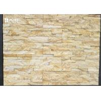 Buy cheap Yellow Sandstone Cultured Stone Wall Cladding Panels Fire Resistance product