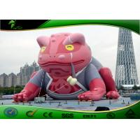 Buy cheap Giant Inflatable Outdoor Toys Cartoon Red Toad For Entertainment 6m Height product