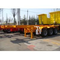 Buy cheap Heavy Duty Capacity Skeleton Semi Trailer , 20 ft Shipping Container Trailer product